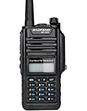 Mengshen Waterproof Radio BF-A58, Dustproof Portable Walkie Talkie VHF UHF 136-174/400-520MHZ Dual Band Amateur Transceiver BF-A58 Ou