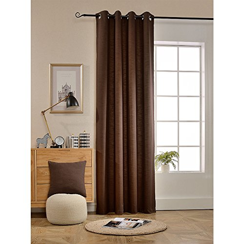 BOKO Natural Blackout Grommet Windo Panel Curtains, 54X84 inches, Curtains for Bedroom, Curtains for Livingroom, Comes with a Pillow Cover in the Same Fabric