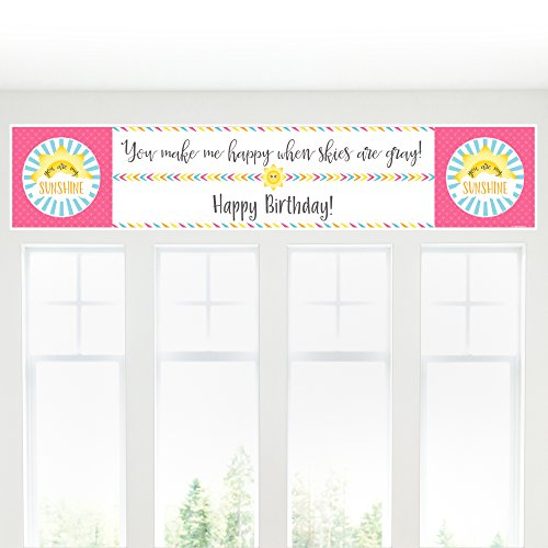 Big Dot of Happiness You are My Sunshine - Birthday Party Decorations Party Banner