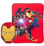 Marvels Avengers Iron Man Nogginz Pillow and Blanket Kids Bedding Set