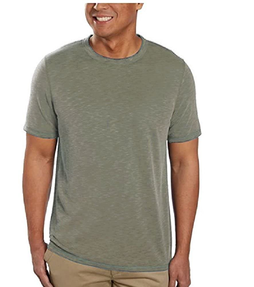 Men/'s Rocawear Khaki Signature All Over Short Sleeve Button Down Shirt