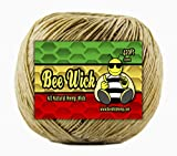 Bee Wick Hemp 420ft Spool of 100% Organic Hemp Wick, Waxed by Hand in The USA with American Beeswax (1.0mm)