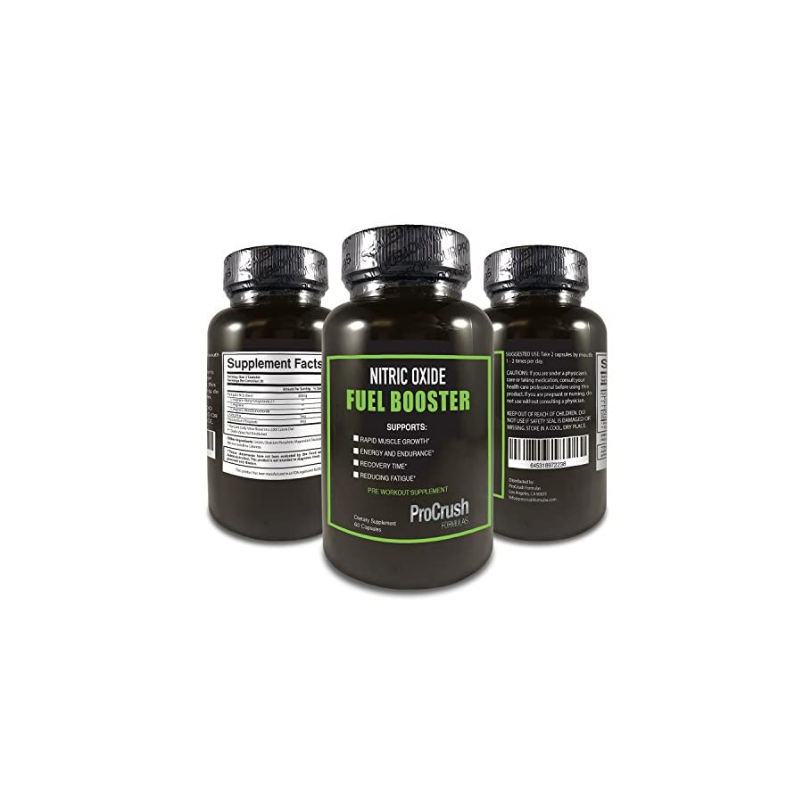 Nitric Oxide Supplement with L Arginine Natural N.O. Booster for Energy, Blood Flow, Endurance & Stamina. Increases Muscle Strength & Fat Burning for both Men & Women