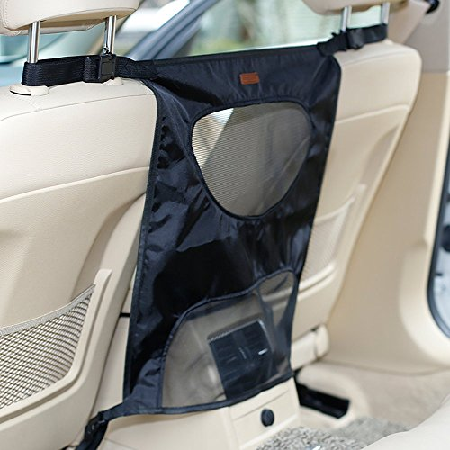 Pet Car Barrier, WSGEE Dog Car Backseat Barrier Adjustable for Safe Travel Driving- CZYP02BLACK