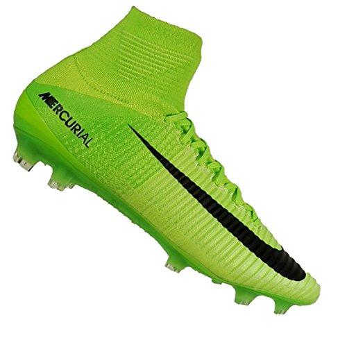 release date 1fd67 fb9e1 ... discount code for nike mercurial superfly hombres v fg botas de fútbol  negro verde eléctrico negrogre
