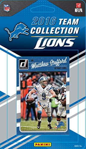 Detroit Lions 2016 Donruss Factory Sealed Team Set with Matthew Stafford, Barry Sanders, Golden Tate, Rookie Cards and more