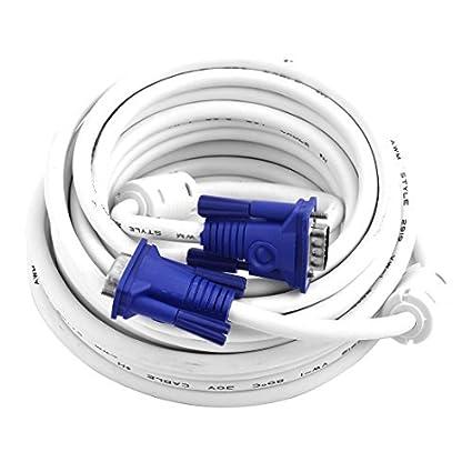 eDealMax HD 15Pin Macho a Macho M/M VGA coaxial de extensión Para Monitor Cable