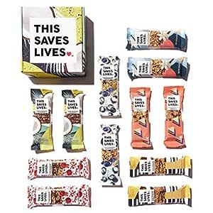 Gluten Free Granola Breakfast Bar, Variety Pack by This Bar Saves Lives, 1.4 oz, 12 bars