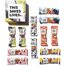 Gluten Free Healthy Granola Snack Bar, 12 Bar Variety Pack (2 Each of 6 Flavors), 1.4 oz per bar; by This Saves Lives