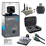 GoPro HERO 5 Session + 64 GB Micro SD + Card Reader + 6 ft HDMI Cable + Memory Card Wallet + Cleaning Kit + Camera Case (7 items)