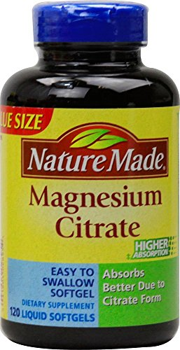 Nature Made Magnesium Citrate Softgels, 120 Count(Pack of 2)