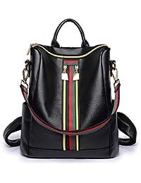 Fashion PU Leather Backpack Shoulder Bag Rucksack Travel Bag