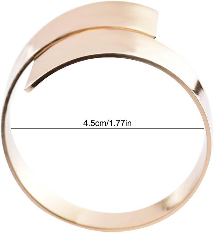 per decorare il banchetto di nozze o la tavola 12/pezzi Silver Anelli portatovagliolo color oro o argento con apertura irregolare