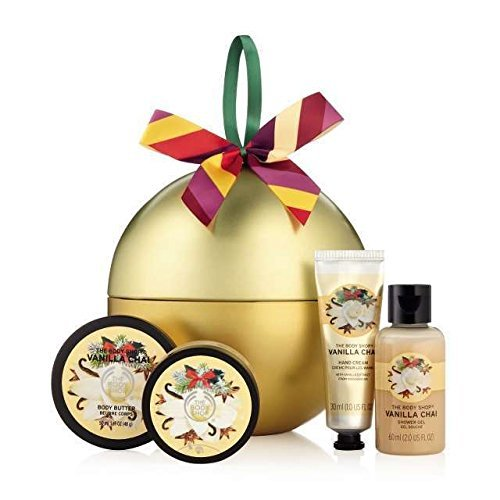 Die Body Shop Vanilla Chai Festlicher Weihnachtsgeschenk Zinn / The Body Shop Vanilla Chai Festive Xmas Gift Tin