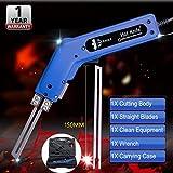 Pro Electric Hot Knife Foam Cutter Tool Heat Knife Cutting Kit 150W 120V(Blue)