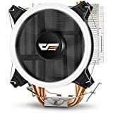 darkFlash CPU Cooler PC Heatsink with Four Direct Contact Heat Pipes & 120mm PWM White LED