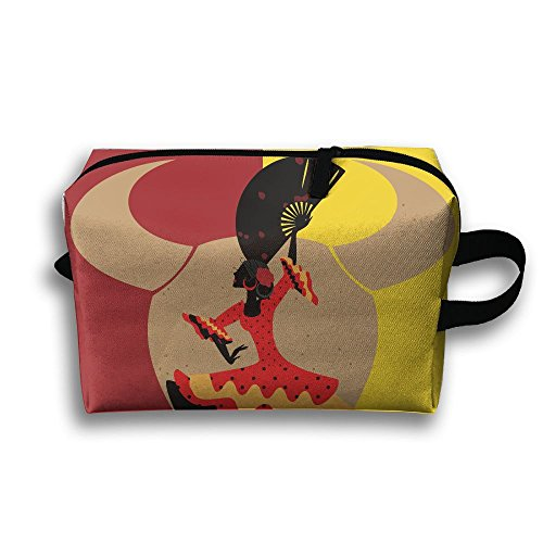 Spanish Dancer Travel Cosmetic Bags Small Makeup Clutch Pouc