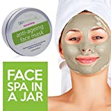 Facial Mask Glowing Skin Collagen Face Mask for Reducing Fine Lines & Wrinkles - 100% Natural Clay Facial Mask - Hydrating, Moisturising & Pore Reducing for Dry or Aging Skin - Facial Mask for Women, Men & All Skin Types