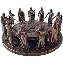 New! King Arthur and the Knights of the Round Table Statue