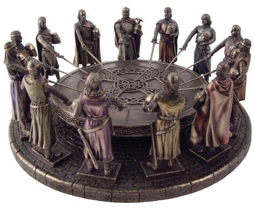 Knights Of The Round Table Sword Names.New King Arthur And The Knights Of The Round Table Statue