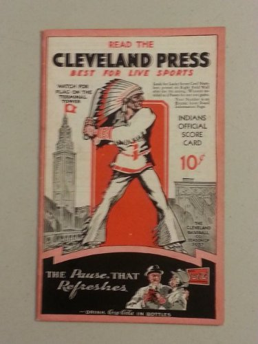 1937 Indians Game Program vs White Sox (12 pg) Scored May 29 - Allen vs Dietrich (Chi 15-3, HR Averill) Near-Mint [Very nice condition for the vintage, neatly ()