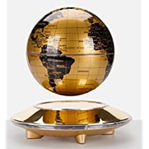 """Haobo 6"""" Gold-yellow Fascinations Levitron Globe Ion with Induction Lighting"""