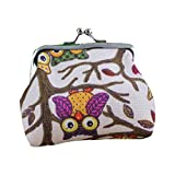 Hot Sale! Clearance! Women Wallets,Todaies Womens Owl Wallet Card Holder Coin Purse Clutch Handbag (97cm/3.52.8'', Beige)