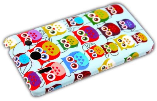 Huawei Ascend G510 silicona a mantener la calma y continúe la protección del diseño caja del teléfono Case caja de parachoques thematys® Hard-Case Kleine Eule