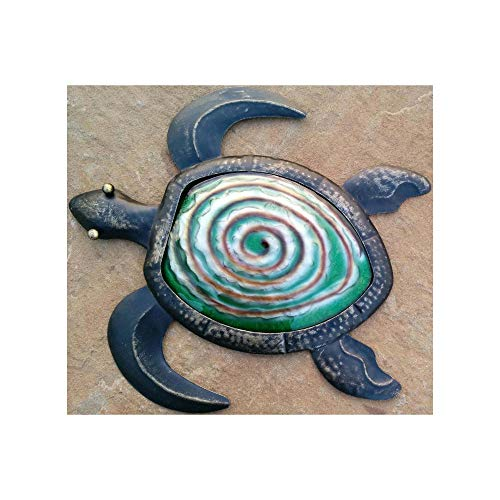 CHSGJY Retro Tropical Bronze Sea Turtle Coastal Nautical Wall Decor Home Kitchen Room 3D Decoration