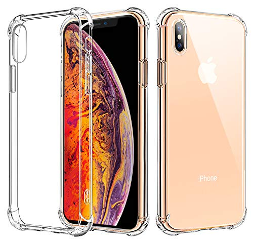Protective Crystal Case Cover - Matone iPhone Xs Case, iPhone X Case, [Crystal Clear] Slim Protective Scratch Resistant Shock Absorption Bumper Soft TPU Case Cover for Apple iPhone Xs (2018)/iPhone X (2017)