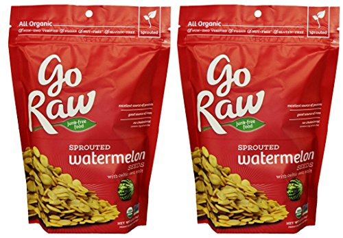 Go Raw Organic Sprouted Watermelon Seeds Pack of 2