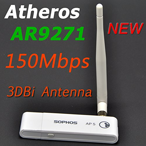 AR9271 150Mbps USB Access Point Wireless USB WiFi Adapter with 3dBi RP-SMA  Antenna For Windows 10/8/7/Linux