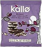 Kallo Organic Belgian Milk Chocolate Mini Rice Cakes 40 g (Pack of 12)