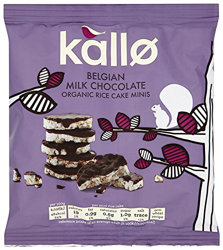 - Kallo Organic Belgian Milk Chocolate Mini Rice Cakes 40 g (Pack of 12)