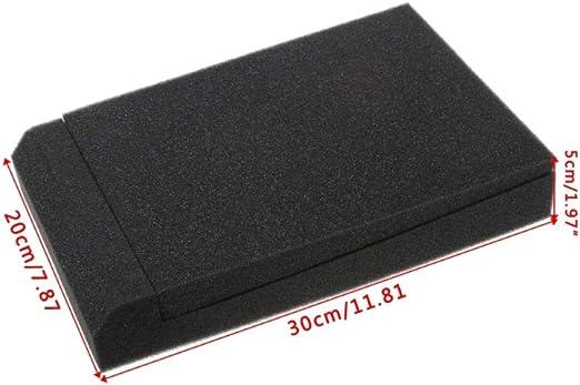 Studio Foam2 Pcs Sponge Studio Monitor Speaker Acoustic Isolation Foam Isolator Pads 30x20x4 5cm Amazon Co Uk Diy Tools