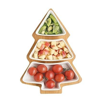 Amazon Com Tableware Snack Platter Ceramic Christmas Tree Grid