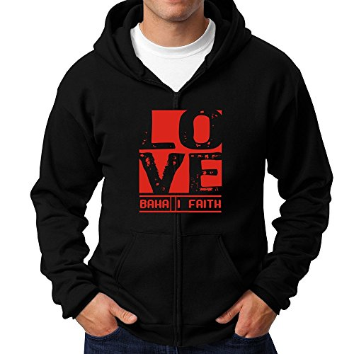 Teeburon LOVE Baha'I Faith Zip Hoodie (Hoodie Faith Zip)