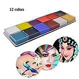 Face Body Paint Non Toxic Halloween Make up Drama Clown Body Oil Painting Kits 12 Flash Colors (1pcs)