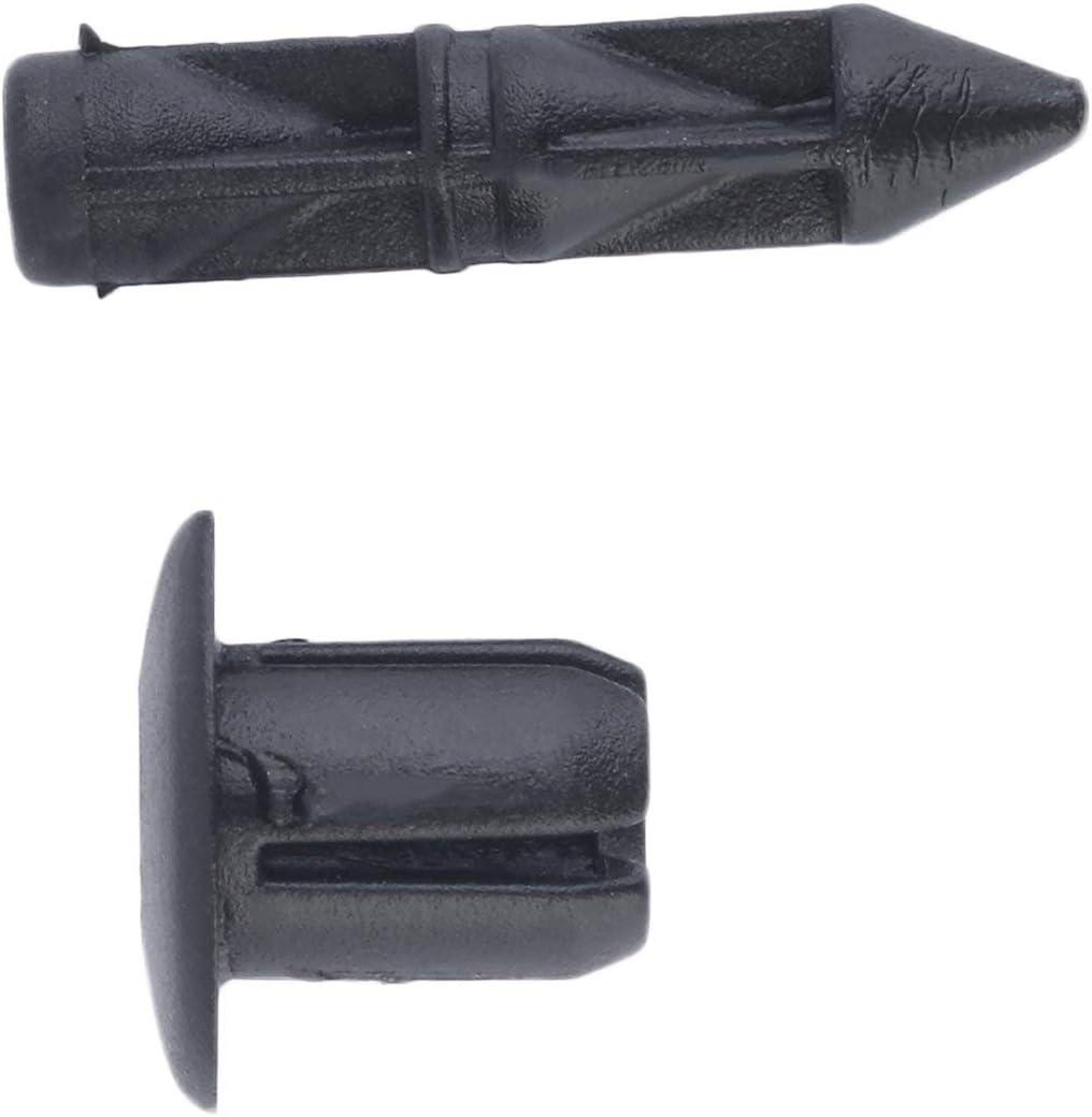 Farbe: schwarz Im Lager New 10x f/ür Honda F/ür Suzuki F/ür Kawasaki 6mm Schrauben-Loch-Kunststoff Verkleidung /& Trim-Panel Klipps 6mm Loch-freien Verschiffen