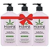 Hempz Vanilla Plum Herbal Body Moisturizer 17 fl oz (3 pack)