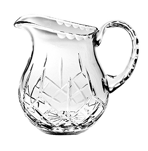 Barski - Hand Cut - Mouth Blown - Crystal Pitcher - 38oz. - 7'' height - Made in Europe