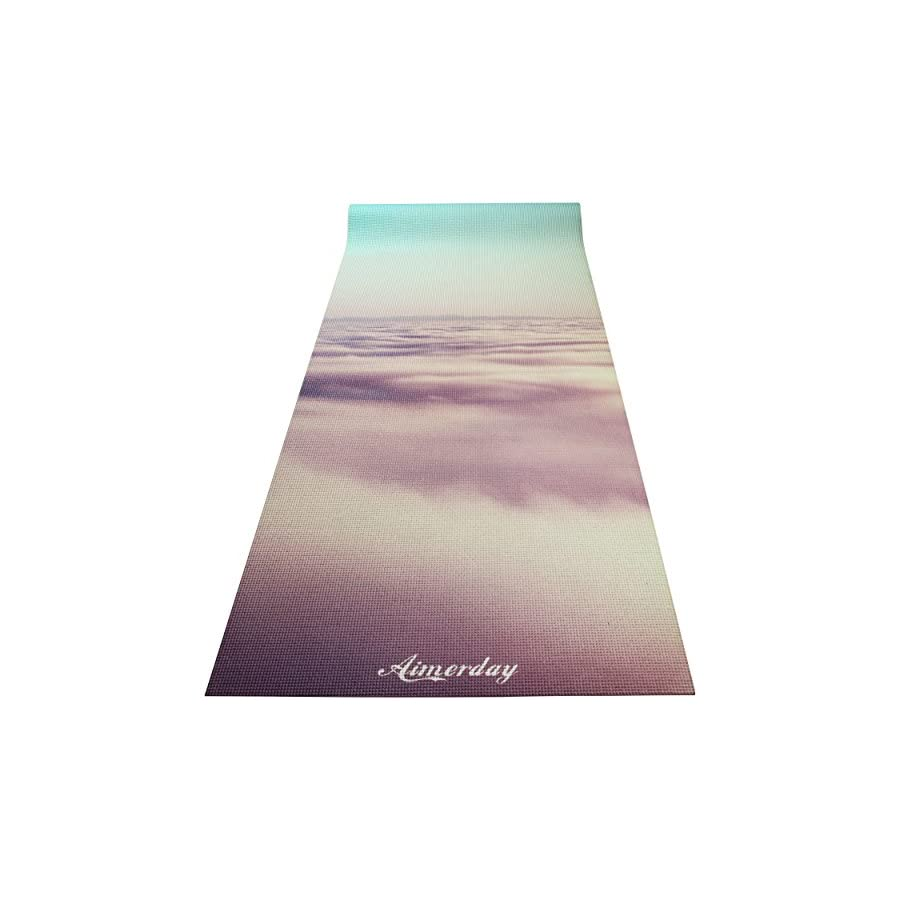 """Aimerday Premium Printed 1/4"""" Extra Thick Yoga Mat High Density 72X24 Inch Non Slip Eco Friendly Anti Tear Floor Pilates Exercise Mat for Yoga, Workout, Fitness with Carrying Strap & Bag 6mm"""