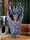 "13.5"" Exotic Vampire Medieval Gothic Dragon Gargoyle Sculptural Lamp"