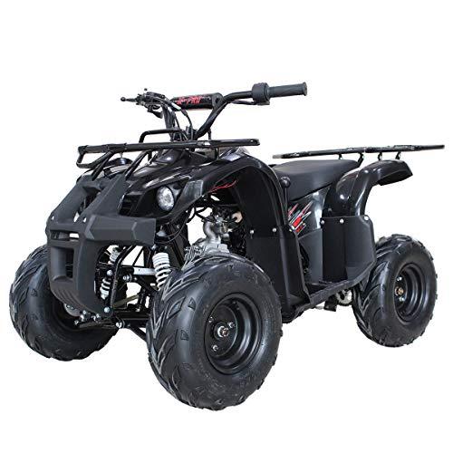 X-Pro 125cc Engine ATV Quad Youth 4 Wheeler ATVs Kid Size ATV 4 Wheelers 125cc Big Boys ATVs Quads (Black)