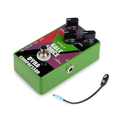 Festnight Guitarra Compress Efecto Pedale con Cable de Batería, True Bypass Compresor Effect Pedal para