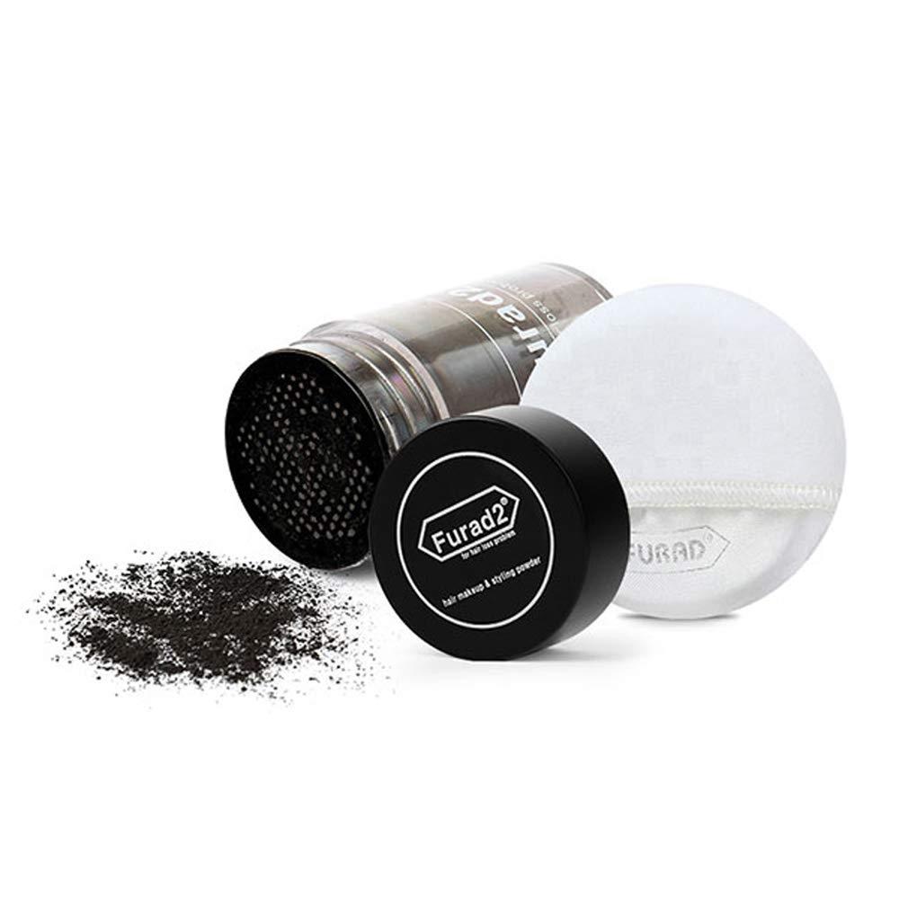 Furad2 Separated Hair Powder Hair Building Fibers for Men & Women Thinning Hair Add Volume For Hair Loss Problem 43g (1.51 oz (Separated), Dark Brown)
