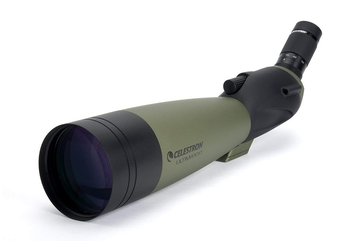 Celestron 52252 100mm Ultima Zoom Spotting Scope (Renewed)