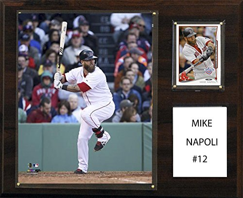Mlb Boston Red Sox Mike Napoli Player Plaque  12 X 15 Inch