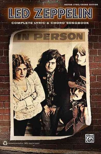Led Zeppelin Complete Lyric & Chord Songbook Guitar Lyric/ Chord Edition Led Zeppelin