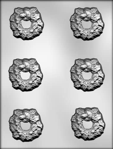 CK Products Poinsettias Wreaths and Pinecones Chocolate Mold